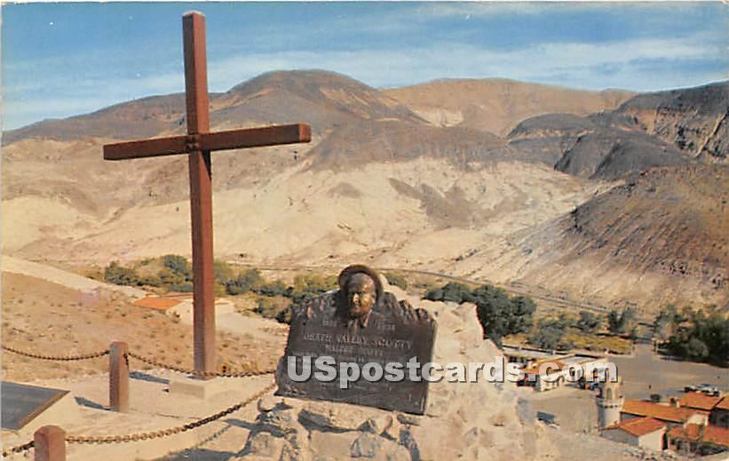 Death Valley Scotty's Hilltop Memorial - California CA Postcard