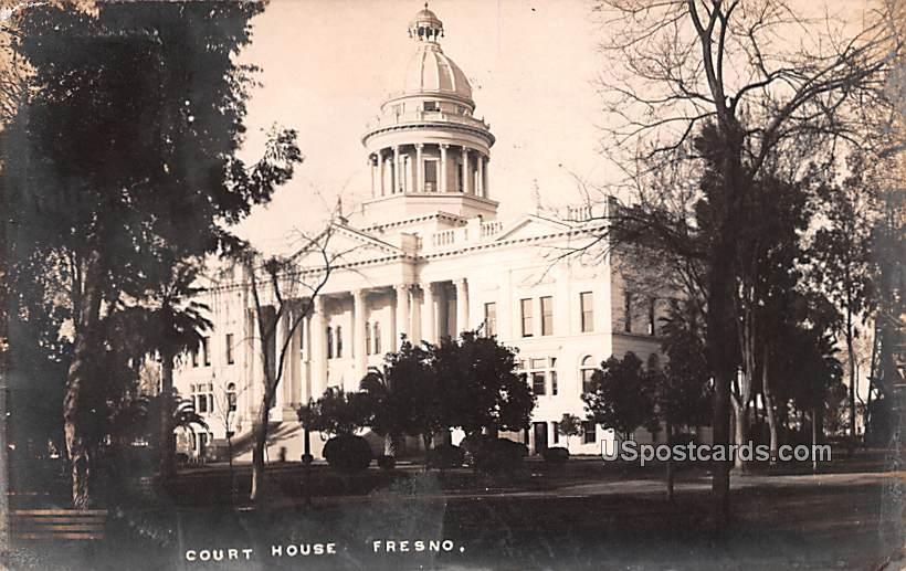 Court House - Fresno, California CA Postcard