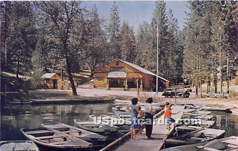 Bass Lake - Fresno, California CA Postcard