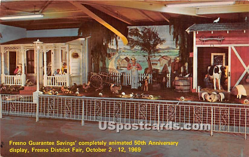 Fresno Guarantee Savings' - California CA Postcard