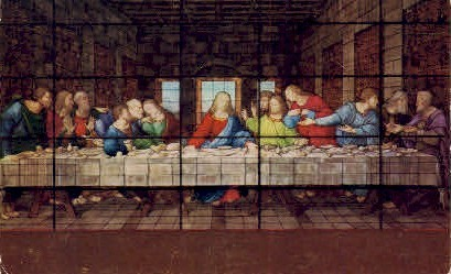 The Last Supper, Window at Forest Lawn - Glendale, California CA Postcard