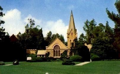 The Little Church of Flowers - Glendale, California CA Postcard