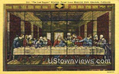 The Last Supper, Memorial Park - Glendale, California CA Postcard