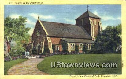 Church of the Recessional - Glendale, California CA Postcard