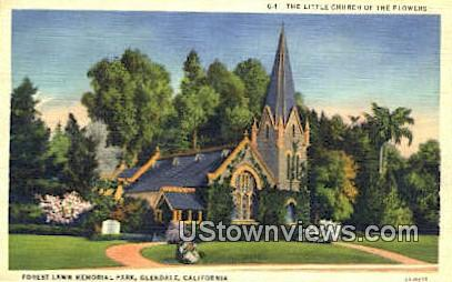 The Little Church of Flowers - Glendale, California CA Postcard