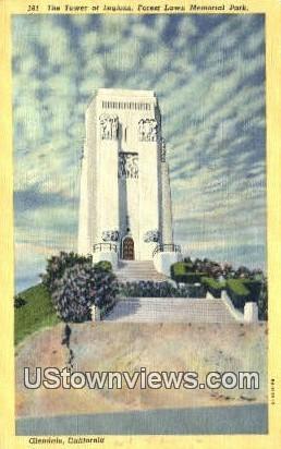 The Tower of Legions - Glendale, California CA Postcard