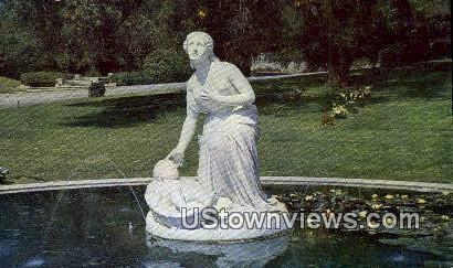Finding of Moses, Fountain - Glendale, California CA Postcard