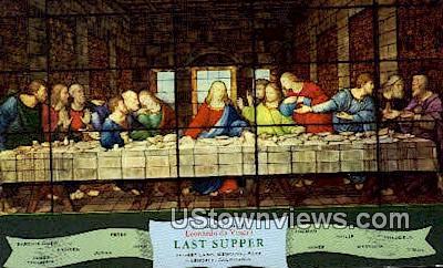 The Last Supper, Memorial Park - Glendale, California CA Postcard