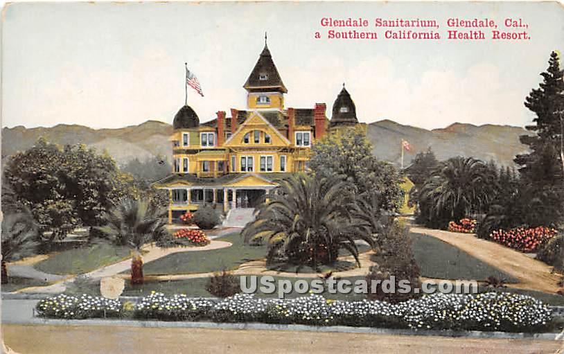 Glendale Sanitarium - California CA Postcard