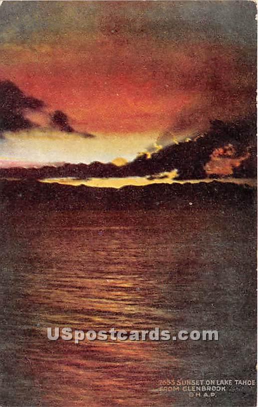 Lake Tahoe - Glenbrook, California CA Postcard