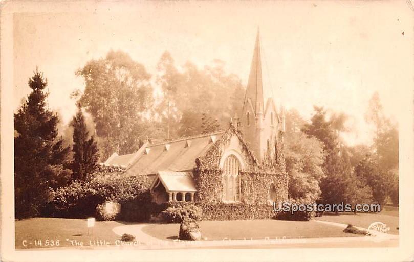 Little Church of the Flower - Glendale, California CA Postcard