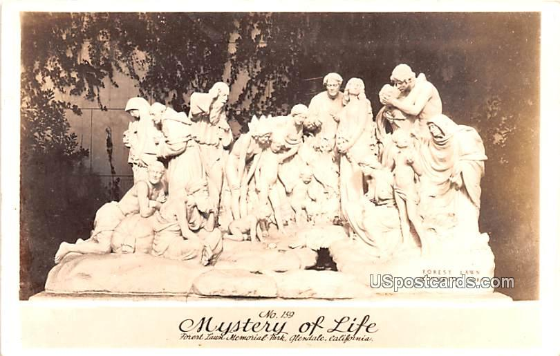 Mystery of Life - Glendale, California CA Postcard