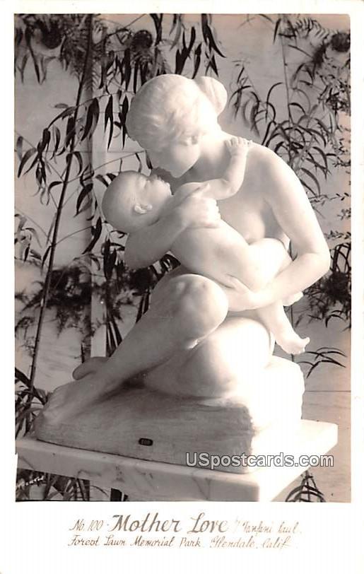 Mother Love - Glendale, California CA Postcard