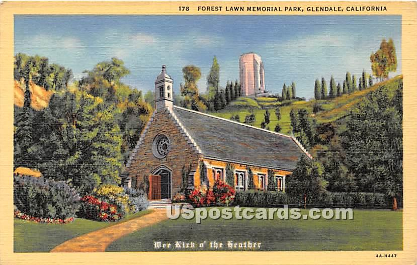 Forest Lawn Memorial Park, Wee Kirk of the Heather - Glendale, California CA Postcard