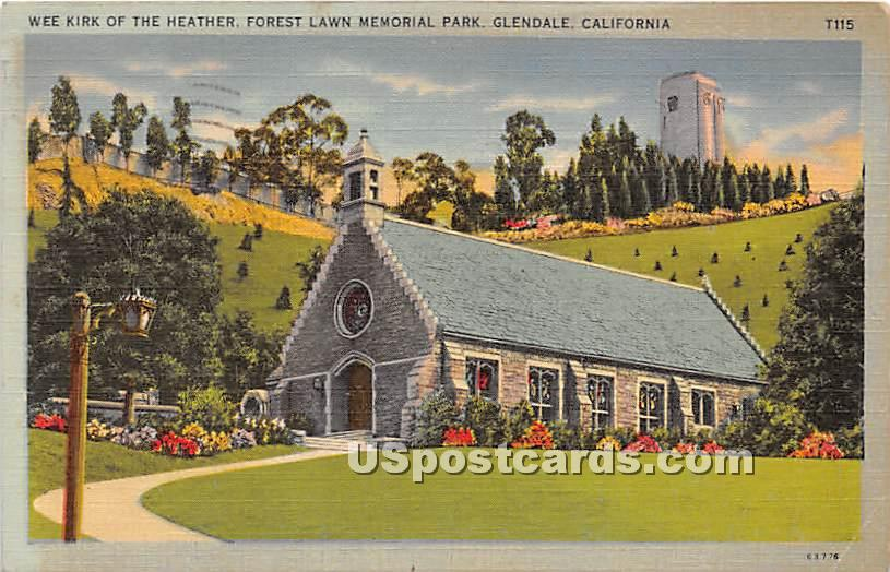 Wee Kirk of the Heather, Forest Lawn Memorial Park - Glendale, California CA Postcard