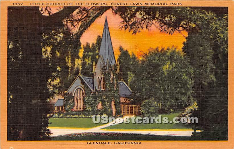 Little Church of the Flowers, Forest Lawn Memorial Park - Glendale, California CA Postcard