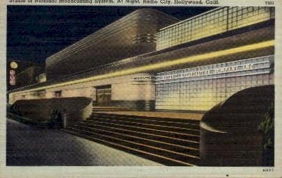 Studio of National Broadcasting Company - Hollywood, California CA Postcard