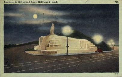 Entrance to Hollywood Bowl - California CA Postcard