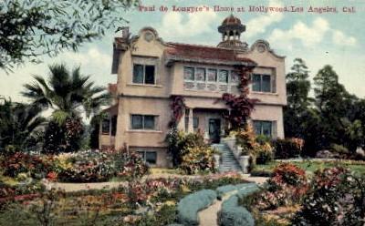 Paul De Longprae's Residence - Hollywood, California CA Postcard
