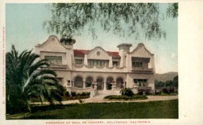 Residence of Paul De Longpre - Hollywood, California CA Postcard