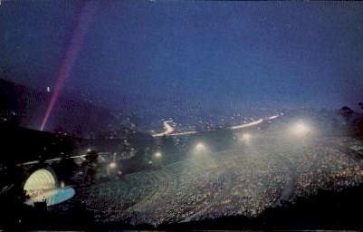 Hollywood Bowl During a Summer Concert - California CA Postcard