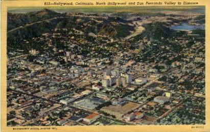 Hollywood - California CA Postcard