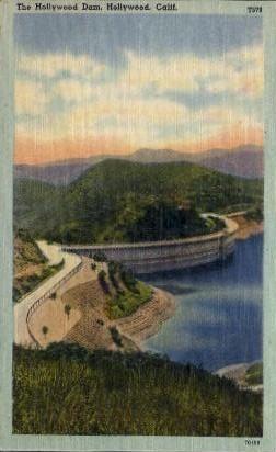 The Hollywood Dam - California CA Postcard