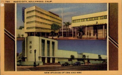 Radio City - Hollywood, California CA Postcard