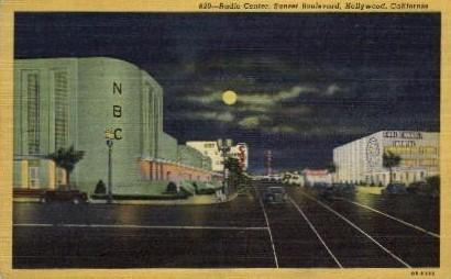 Radio Center - Hollywood, California CA Postcard