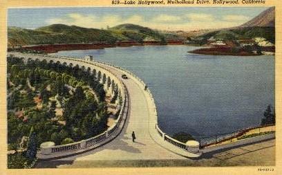 Lake Hollywood - California CA Postcard