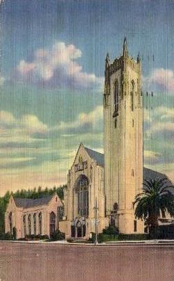 First Methodist Church - Hollywood, California CA Postcard
