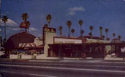 Brown Derby Restaurant - Hollywood, California CA Postcard