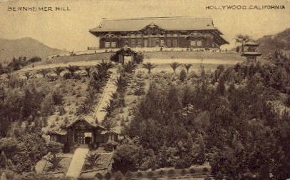 Bernheimer Hill - Hollywood, California CA Postcard