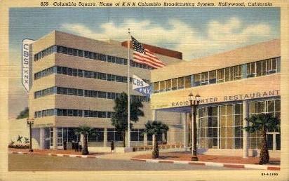 Columbia Square - Hollywood, California CA Postcard