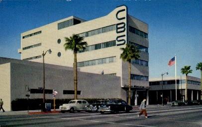 Columbia Broadcasting Company - Hollywood, California CA Postcard