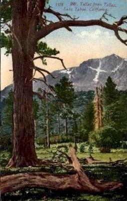 Mt. Tallac from Tallac - Lake Tahoe, California CA Postcard
