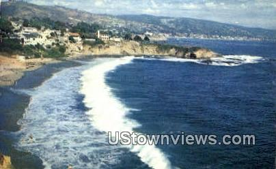 Crescent Bay - Laguna Beach, California CA Postcard