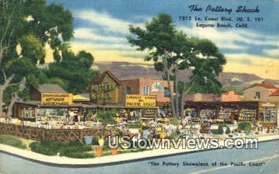 The Pottery Shacks - Laguna Beach, California CA Postcard
