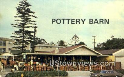 Pottery Barn - Laguna Beach, California CA Postcard