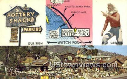Pottery Shack - Laguna Beach, California CA Postcard