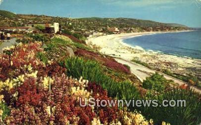 Shoreline, Heisler Park - Laguna Beach, California CA Postcard