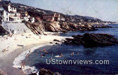 Newport Harbor, San Clemente - Laguna Beach, California CA Postcard