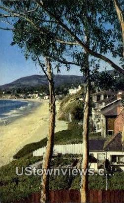 Sleepy Hollow - Laguna Beach, California CA Postcard