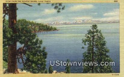 Nevada Shore - Lake Tahoe, California CA Postcard