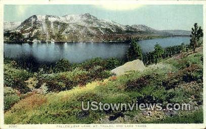 Fallen Leaf Lake, Mt. Tallac - Lake Tahoe, California CA Postcard