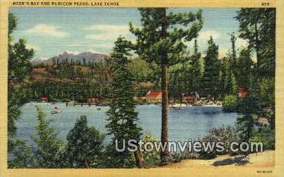 Meek's Bay - Lake Tahoe, California CA Postcard