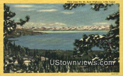 Mt. Rose Highway - Lake Tahoe, California CA Postcard