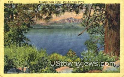 High Sierra - Lake Tahoe, California CA Postcard