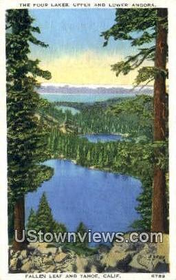 Four Lakes - Lake Tahoe, California CA Postcard