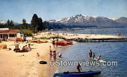 Bijou - Lake Tahoe, California CA Postcard